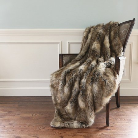 Best Home Fashion Wild Mannered Long Hair Faux Fur Throw Blanket