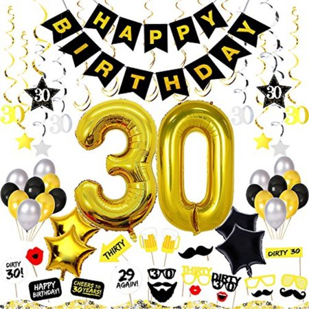 30th Birthday Decorations Kit 82 Pieces EUR Happy Fcking Banner 40