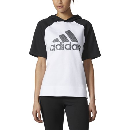 adidas Womens Athletics Fashion Full Zip Short Sleeve Hoodie |