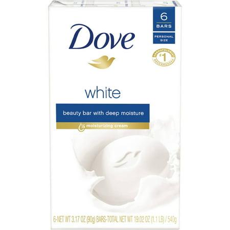 Dove White Beauty Bar, 3.15 oz, 6 Bar