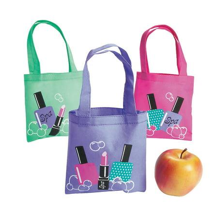 IN-13679991 Spa Party Mini Tote Bags Per Dozen (Kids Spa Party Ideas)