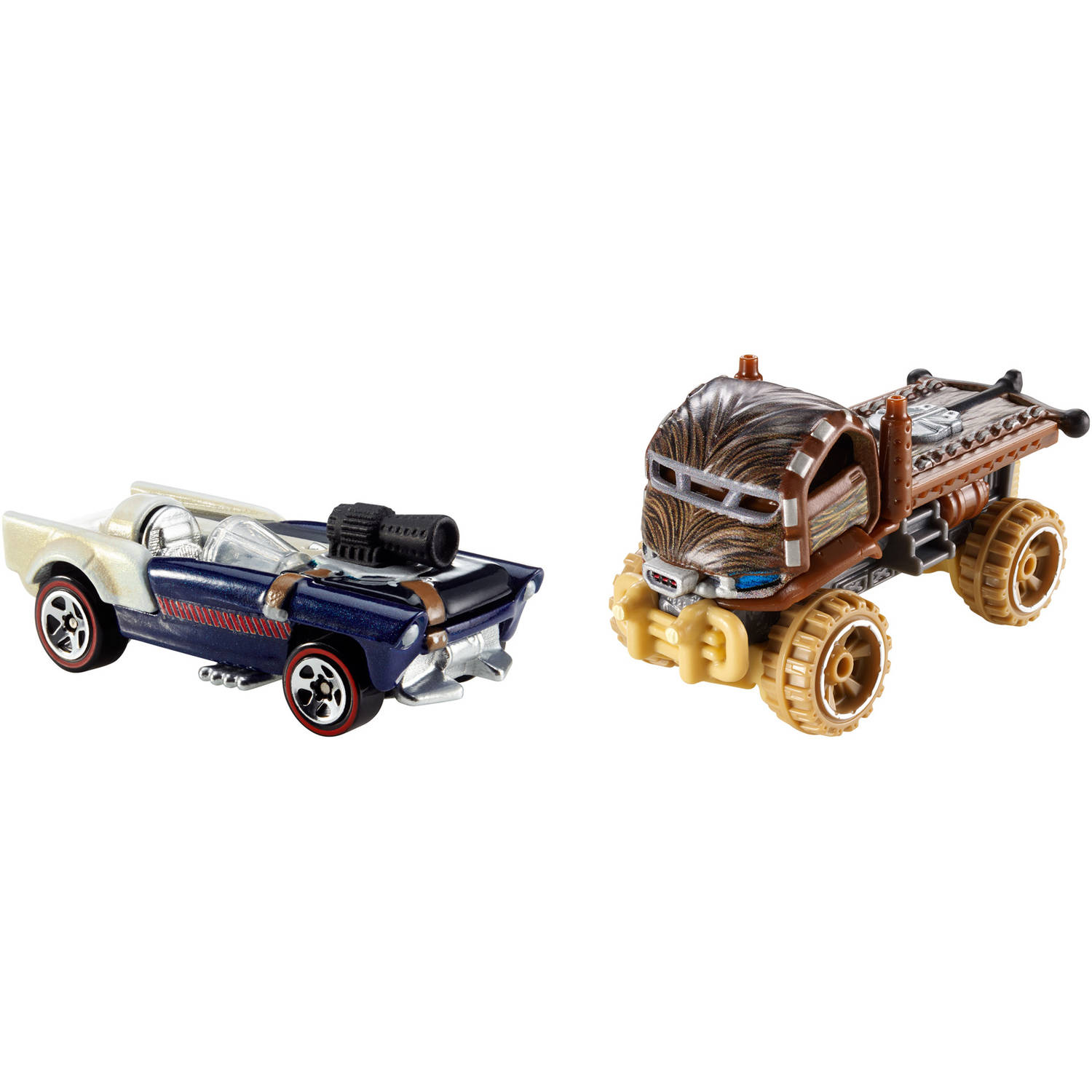 Hot Wheels Star Wars Character Car 2-Pack, Han Solo and Chewbacca by Mattel