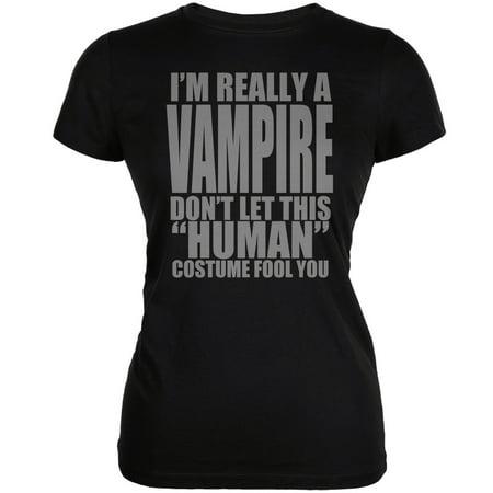 Halloween Human Vampire Costume Black Juniors Soft - Asa Made Halloween