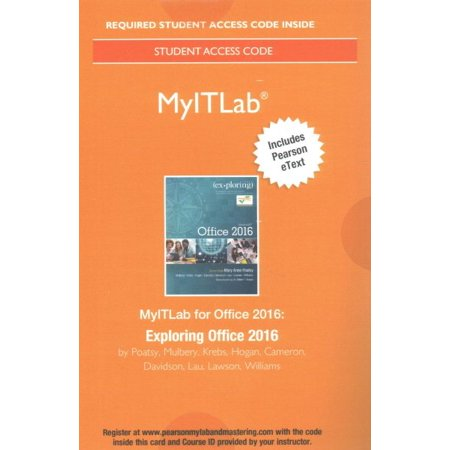 Mylab It with Pearson Etext--Access Card--For Exploring Microsoft Office 2016 (Discovering Computers Ms Office 2016 Updated Pkg)