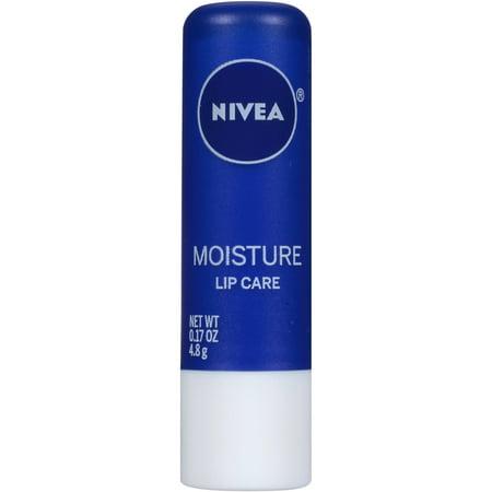 (4 Pack) Nivea Moisture Lip Care, 0.17
