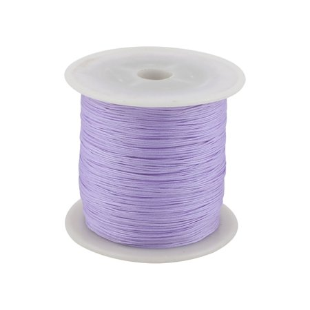 Nylon DIY Art Craft Braided Chinese Knot Cord String Rope 153 Yards Light Purple