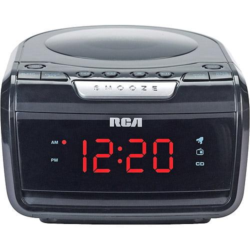 RCA AM/FM Clock Radio with CD Playback