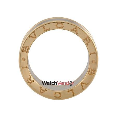 6209488cbdd20 Bvlgari B.zero1 Anish Kapoor Pink Gold and Steel Ring Size 53