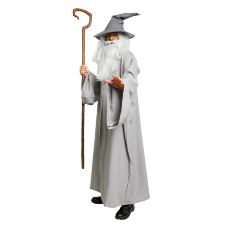 Men's Silver Gandalf Costume Robe Medium