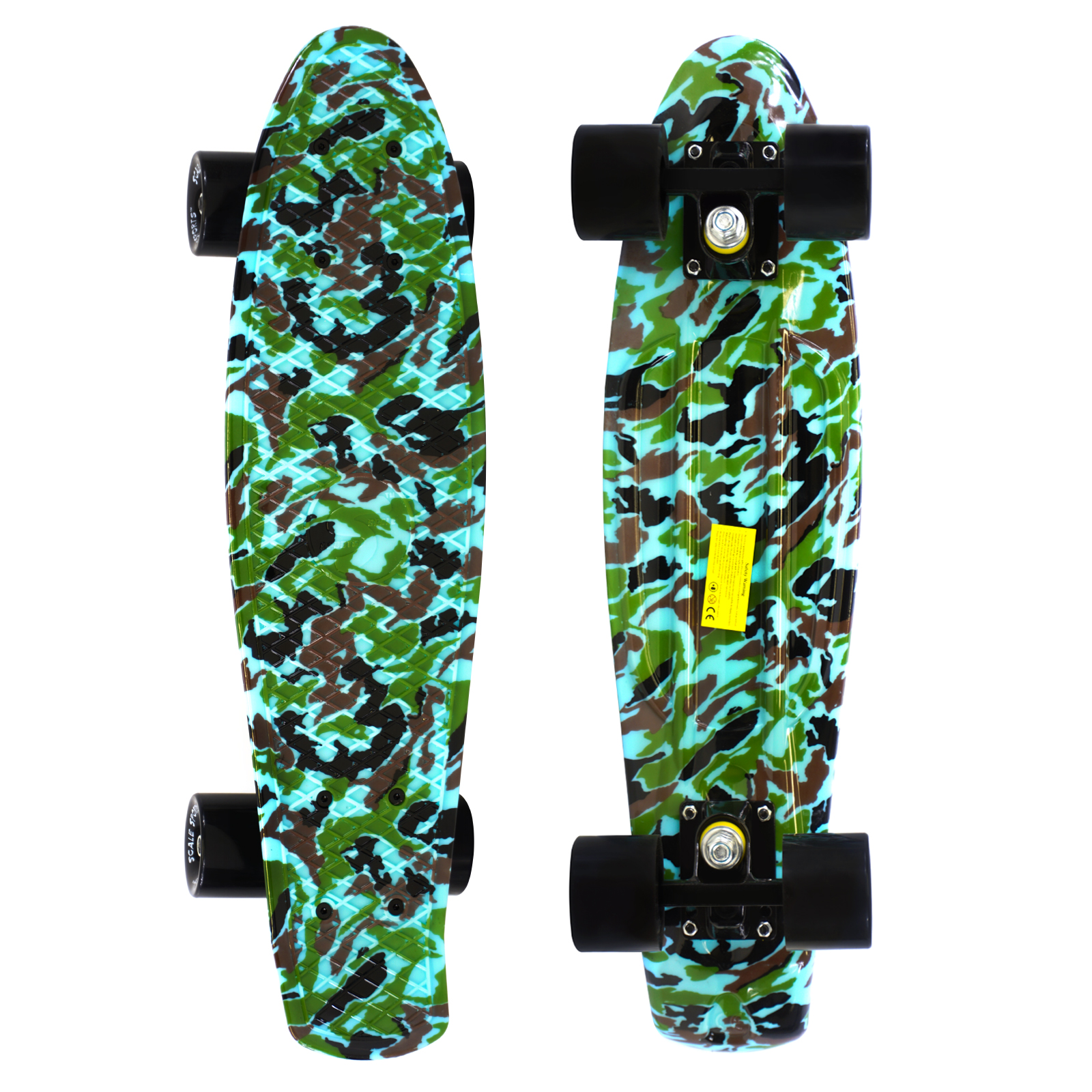27 Skateboard Complete Street Retro Cruiser Budda Print Deck by Scale Sports