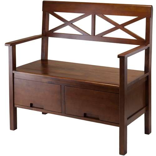 Madelyn Storage Entryway Bench, Antique Walnut
