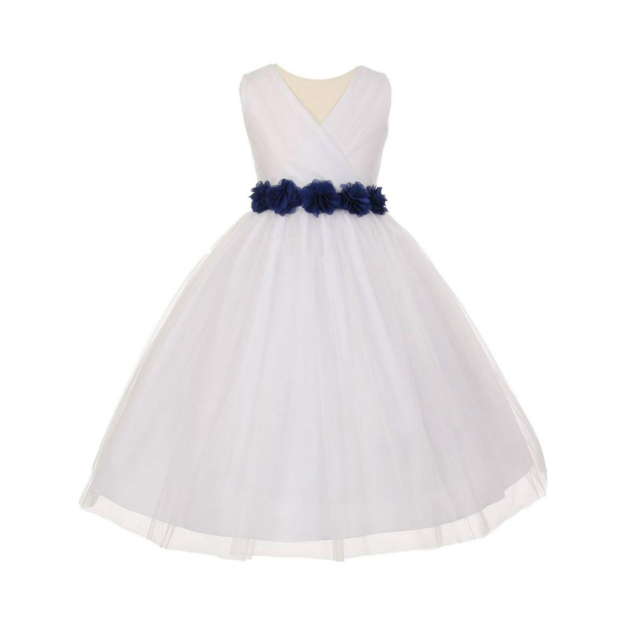 Girls White Royal Blue Chiffon Flowers Tulle Junior Bridesmaid Dress 10 Walmart Canada,Camo Wedding Dress Orange