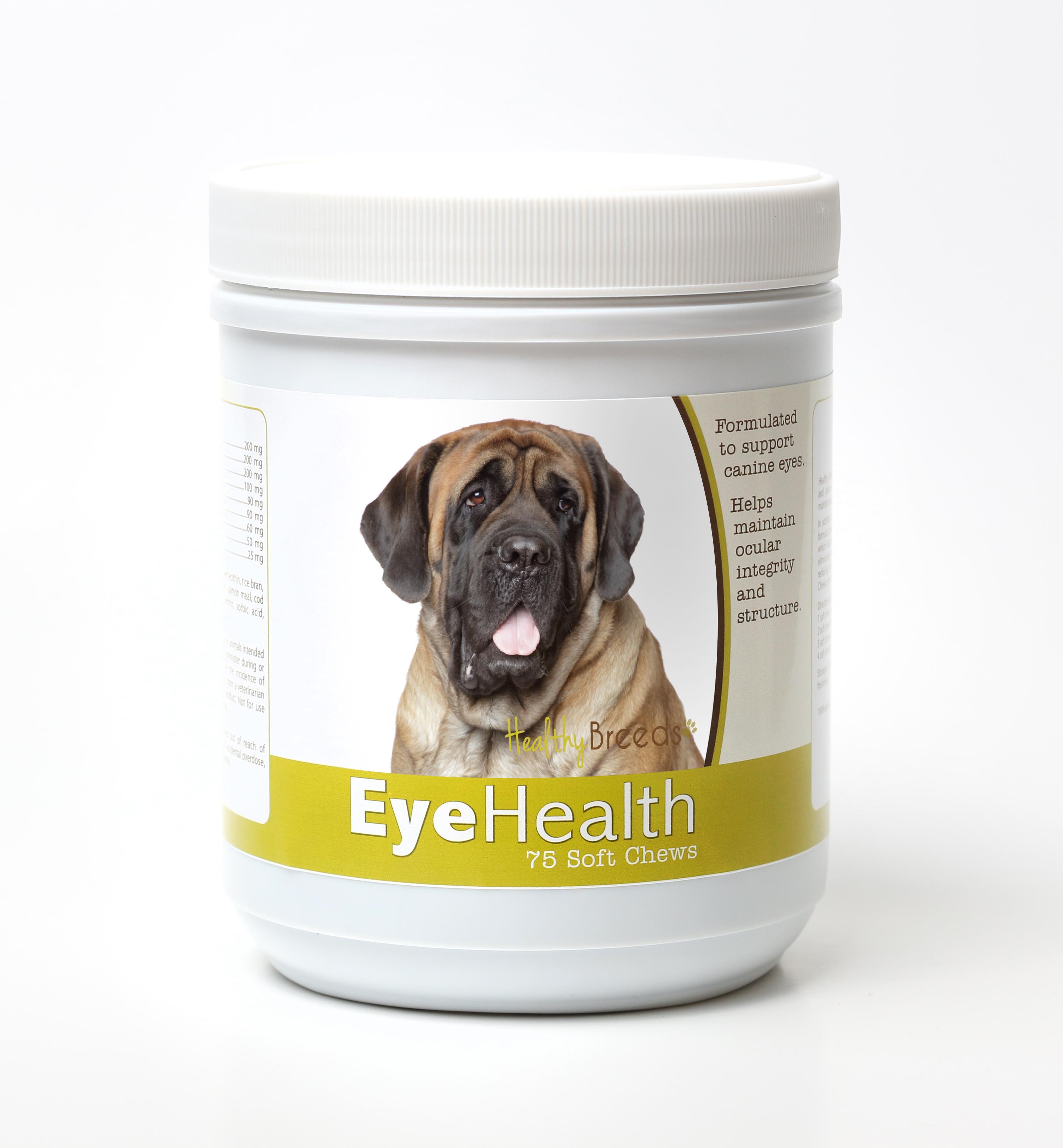 Healthy Breeds Dog Eye Health Support Soft Chews for Mastiff 75 Count