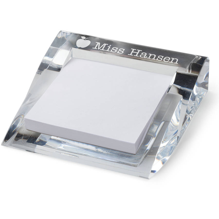 Personalized Teacher Acrylic Notepad and Holder