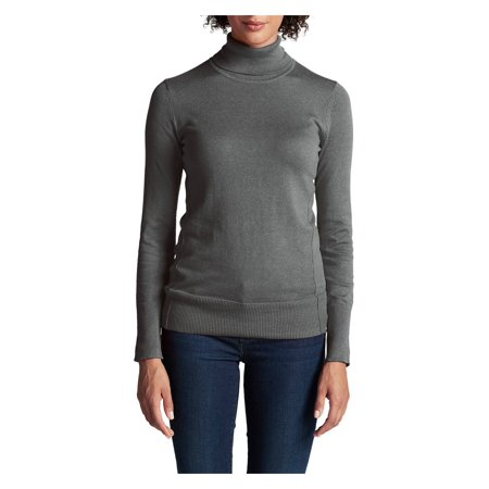 Eddie Bauer Women's Christine Turtleneck Sweater, Lt Charcoal Htr Regular XL Named after Christine Stine Bauer, Eddies wife and the creator of Eddie Bauer's original line of womens clothing. Soft, fine-gauge cotton/nylon yarns give this classic turtleneck excellent shape retention.