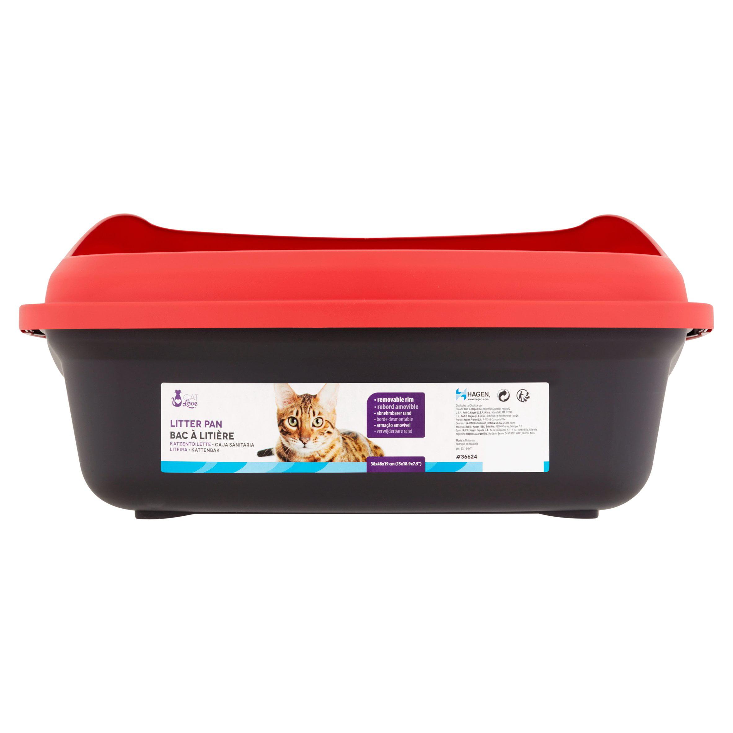Cat Love Cat Litter Box Black Amp Red Walmart Com