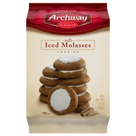 (2 Pack) Archway Iced Molasses Classic Cookies, 12 Oz (Iced Cookie Bouquet)