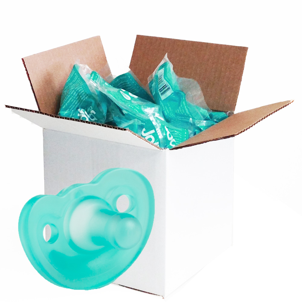 JollyPop Silicone Pacifier - 3 Months and Up - Unscented - Solid Teal