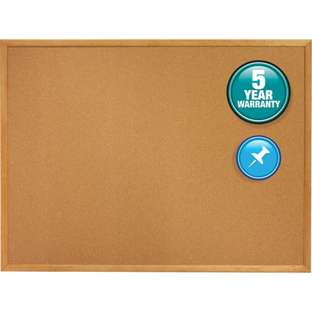 French Bulletin Board (Quartet Classic Series Cork Bulletin Board, 48 x 36, Oak Finish)