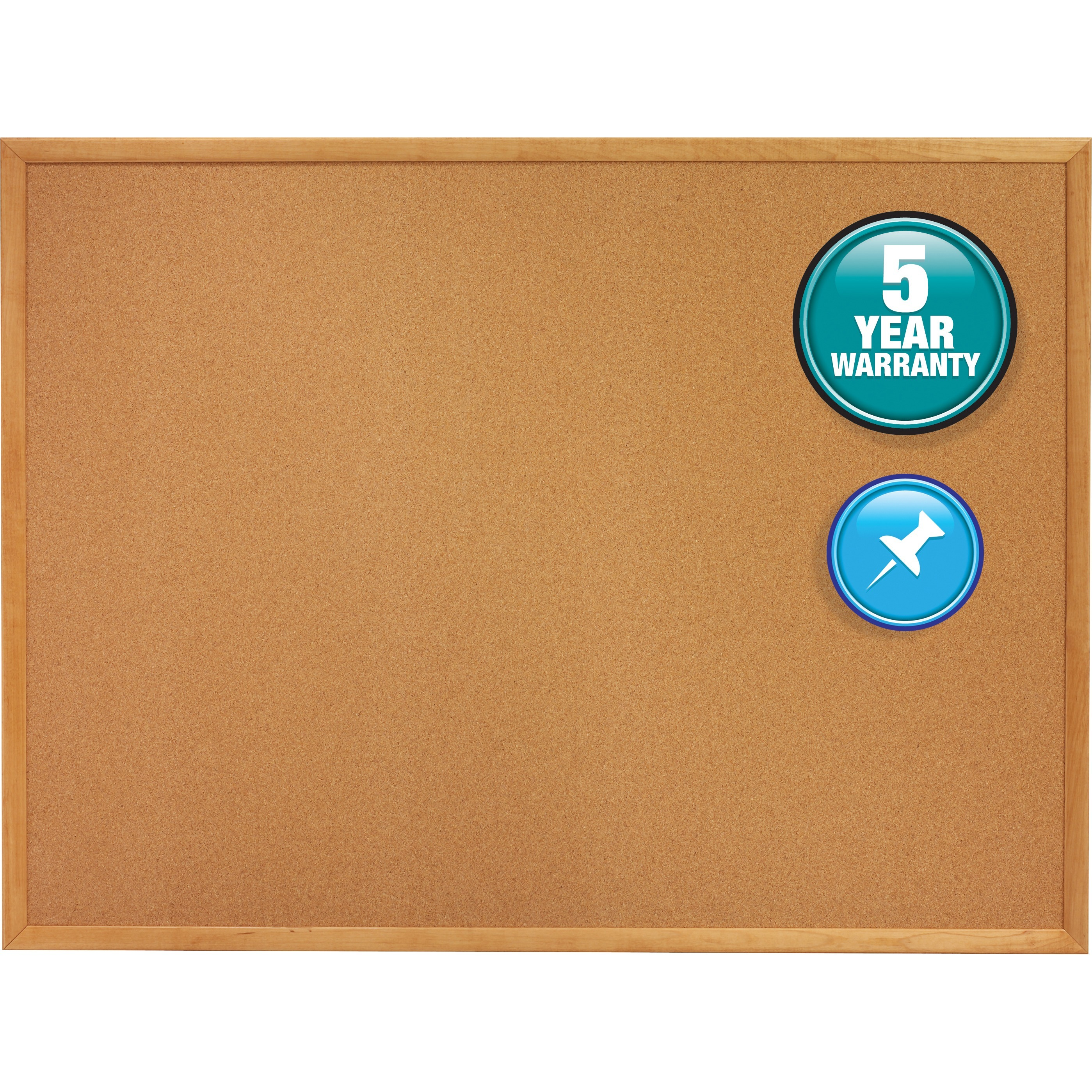Quartet Classic Series Cork Bulletin Board, 48 x 36, Oak Finish Frame