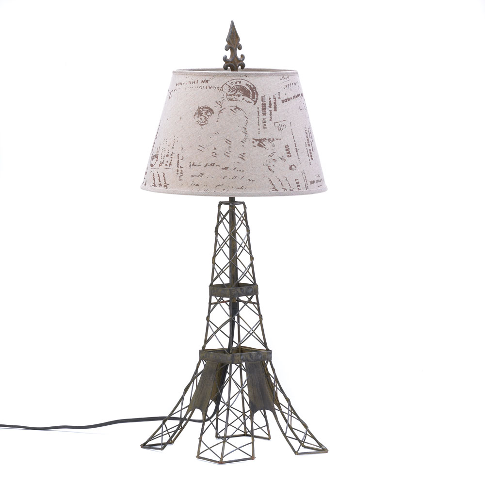 Rustic Table Lamps, Modern Parisian Art Table Lamp Small For Home Office