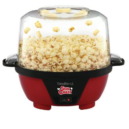 West Bend 82505 Stir Crazy Popcorn Machine, Red - Walmart.com