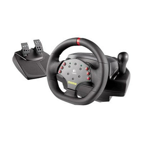 fecfdfe9b33 Logitech MOMO Racing - Wheel and pedals set - wired - Walmart.com