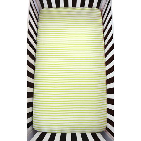 Atelier  Dele Stripes Organic Crib Fitted Sheet