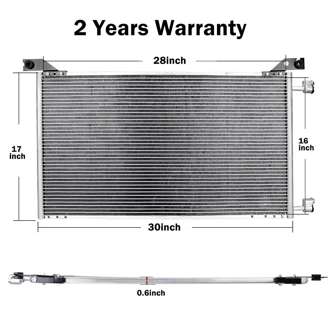 4953 Ac A  C Condenser For Chevy Hummer Fits Tahoe Avalanche Silverado H2 Replacement