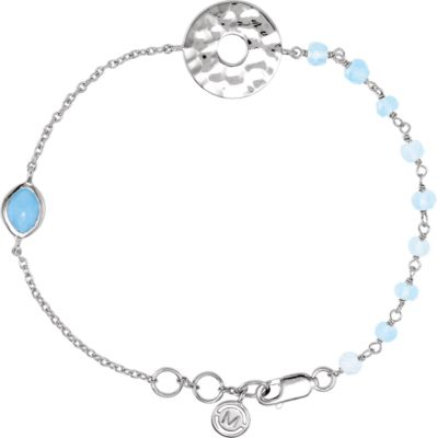 "Sterling Silver Blue Chalcedony 7.5"""" Bracelet 650873   Sterling Silver   Bracelet   Complete With Stone  ... by"