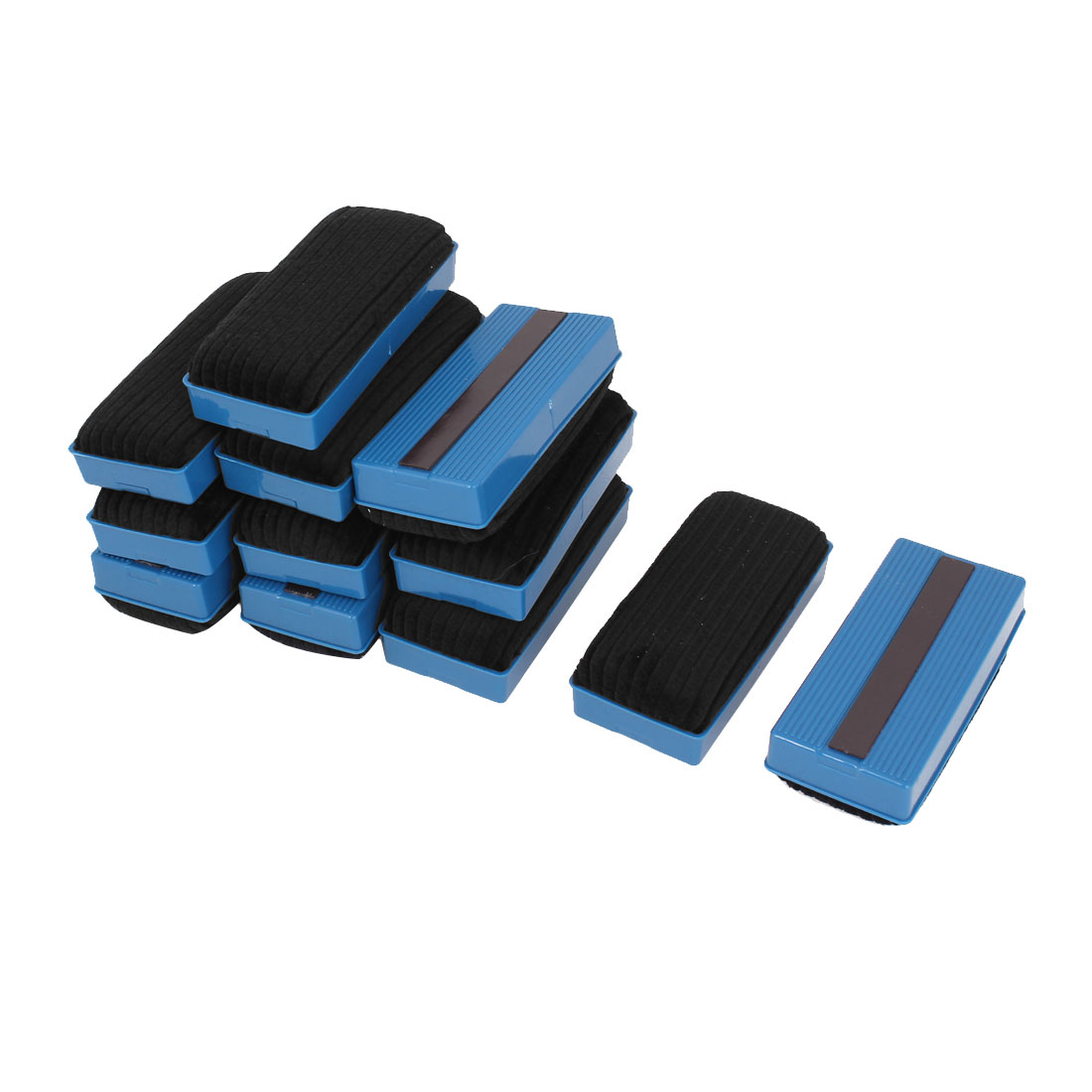 Unique Bargains 12 Pcs Magnetic Board Plastic Whiteboard Blackboard Cleaner Dry Marker Eraser