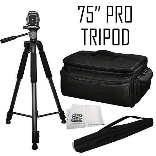 Digital 75-inch Professional Series Tripod w/ 3-way Head ...