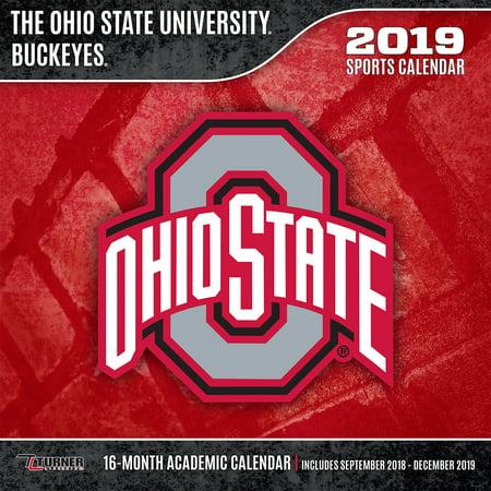 Ohio State Academic Calendar 2019 2019 12X12 TEAM WALL CALENDAR, OHIO STATE BUCKEYES   Walmart.com