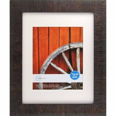 Mainstays Sierra Medium Brown 11x14 to 8x10 Picture Frame