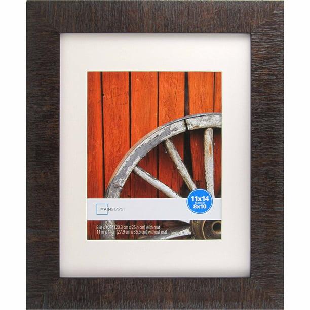 Mainstays Sierra Medium Brown 11x14 to 8x10 Picture Frame ...
