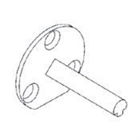 Baldwin 5092 Half Dummy Spindle for Most Escutcheons, Satin Stainless Steel 10 Satin Stainless Steel