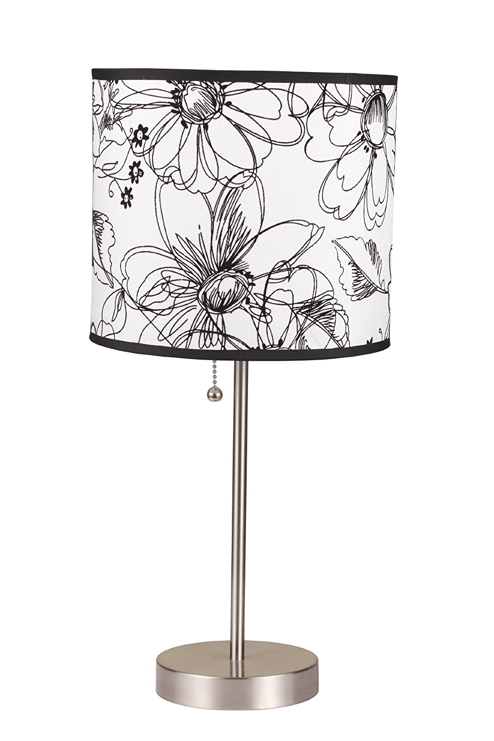 International 8312b 19 inch brushed steel table lamp with damask international 8312b 19 inch brushed steel table lamp with damask print shade 6235sn black print 2025 clipon 19h give 15inch degree 19 it square 360 aloadofball Gallery