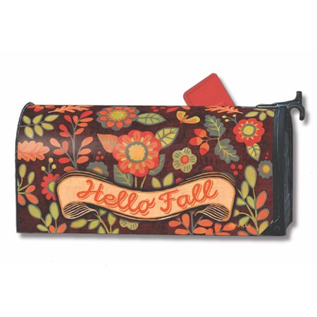 Mailwraps Pineapples (Hello Fall Magnetic Mailbox Cover Flowers Autumn Floral MailWraps Standard )