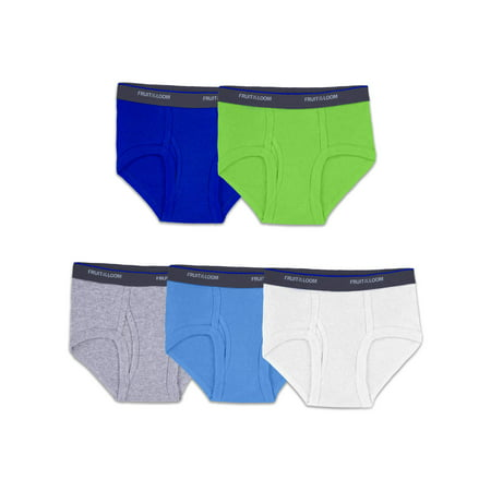 Fruit of the Loom Boys Assorted Fashion Brief Underwear, 5 Pack (Toddler Boys) (Toddler Boy Briefs 5t)