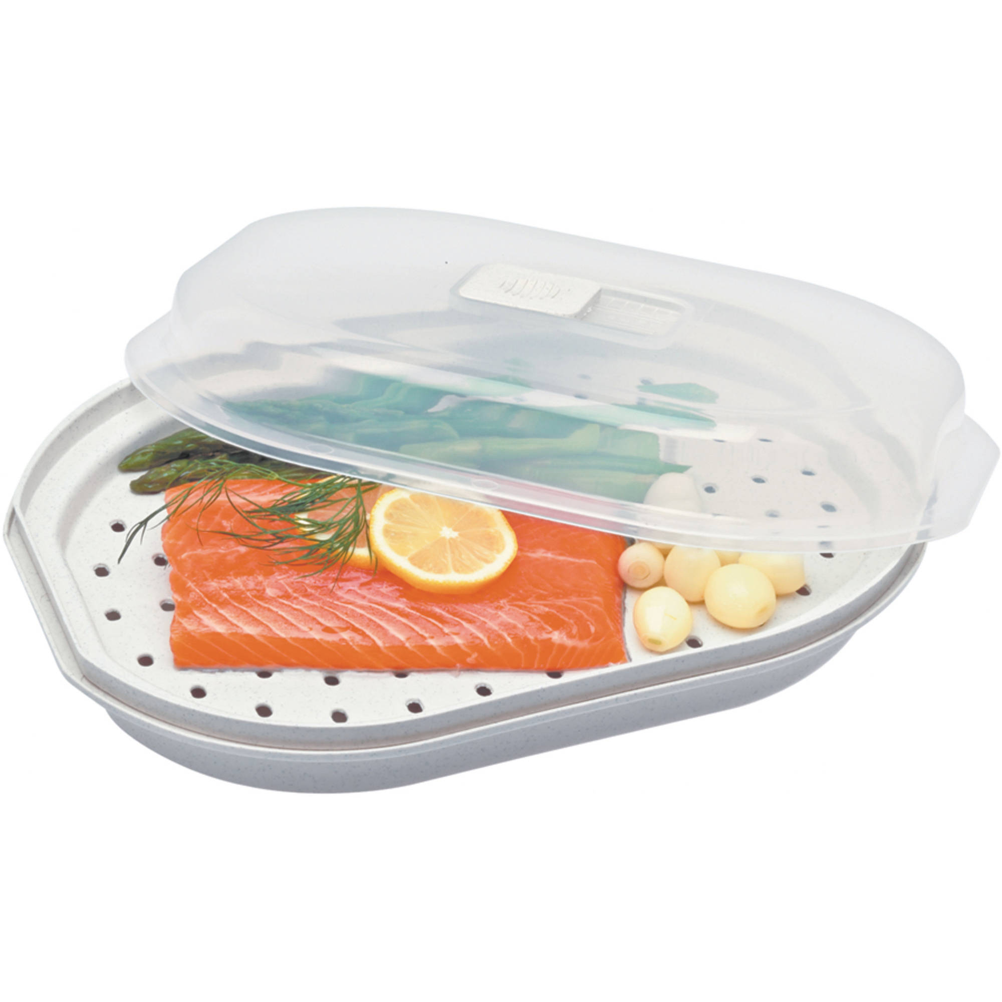 Prep Solutions by Progressive Microwave Fish and Veggie Steamer