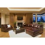 Davis 2-Pc Top Grain Leather Sectional Set