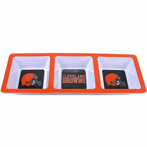 ***P95***NFL Browns Divided Snack Tray