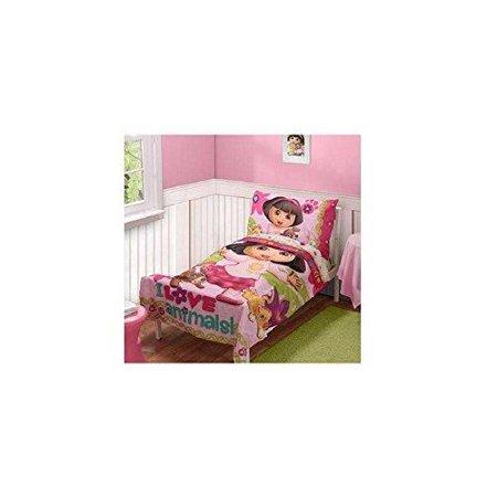Dora The Explorer Pets Toddler Bed Set Pink