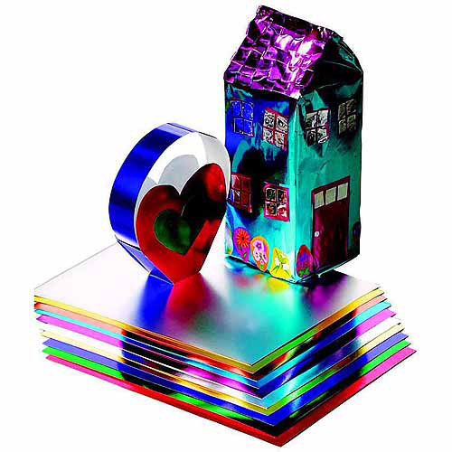 "Hygloss Metallic Foil Paper, 8.5"" x 10"", 24 Sheets, Assorted Color, Pack of 24"