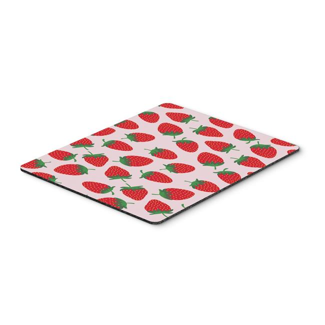 Strawberries on Grey Mouse Pad, Hot Pad or Trivet