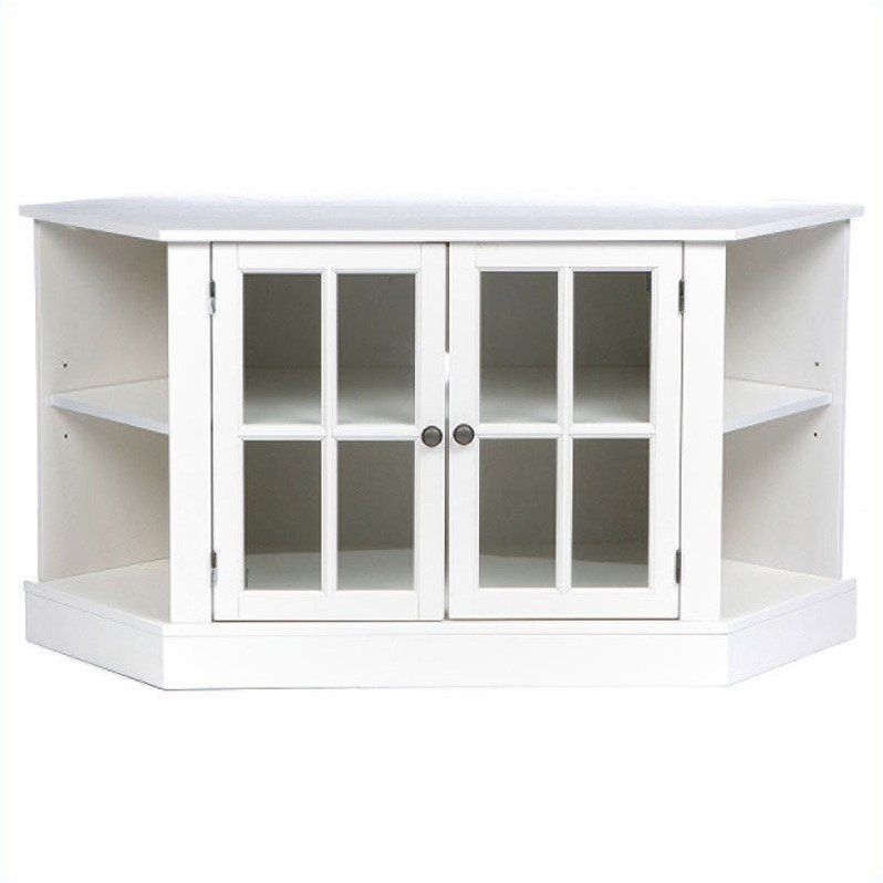 Southern Enterprises Parkridge Corner Media Stand in Painted White - image 7 of 9