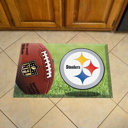 "NFL - Pittsburgh Steelers Scraper Mat 19""x30"" - Ball"