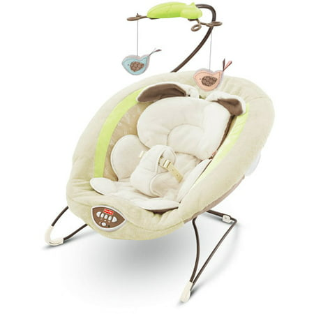 Fisher-Price Deluxe Bouncer with Music, My Little Snugabunny