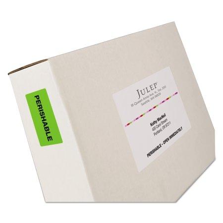 Avery Dennison Hi Liter Fluorescent - Avery High-Visibility Permanent ID Labels, Laser, 2 x 4, Asst. Neon, 150/Pack