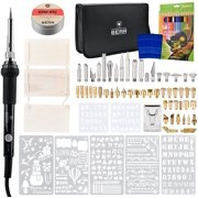 Wood Burning Kit for Pyrography & Woodburning | Pen for Carving, Embossing & Soldering | Woodburner with Temperature Control Including Stencils & Tool Set | Bonus Wood Wax Polisher